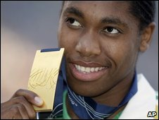 Caster Semenya with her medal