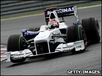BMW Sauber's Polish driver Robert Kubica