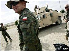 File photo of Polish troops in Afghanistan