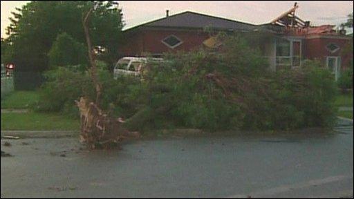Storm damage in Ontario canada