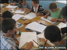 Classroom scene at The Acorn School
