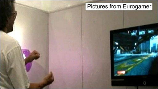 Xbox's creative director Kudo Tsunoda demonstrates the prototype motion control system