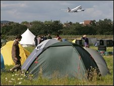 Climate Camp in Heathrow, 2007