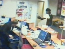 Stephen Jackley filmed on CCTV during one of his raids