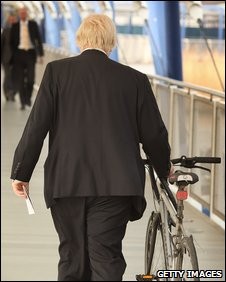 Boris Johnson and his bike