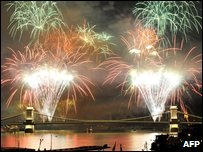 Fireworks in Hungaria