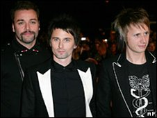 Muse: (L to R) Chris Wolstenholme, Matt Bellamy, Dom Howard