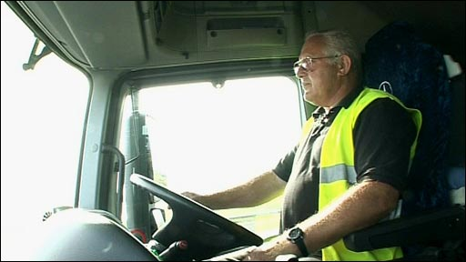 HGV driver Bob Boreham