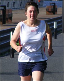 Sue Lees running