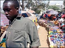 Marketplace in Nairobi, Kenya