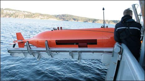 Underwater robot called Hugin 1000