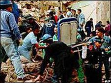 The aftermath of the 1994 bombing of the Jewish centre in Buenos Aires