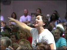 Town hall meeting in Moss Point