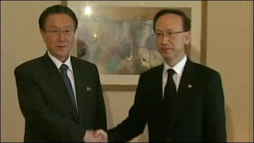 North and South Korean officials meeting in Seoul