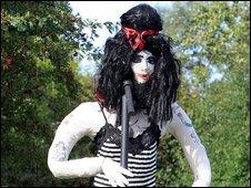 Amy Winehouse scarecrow
