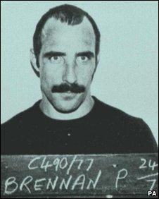 Prison mugshot of Pol Brennan