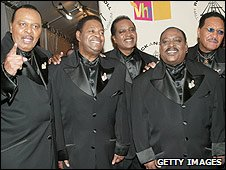 Johnny Carter (second right) and The Dells