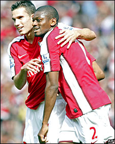 Robin van Persie and Abou Diaby