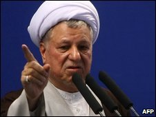 Mr Rafsanjani delivers a sermon at Tehran University 17 July