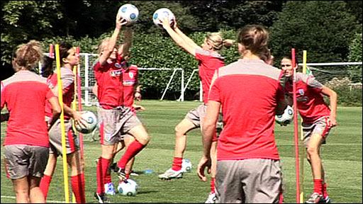England's women training