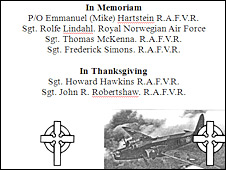 Poster for the service of commemmoration