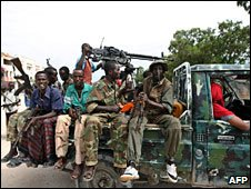 Somali soldiers in Mogadishu, 22 Aug