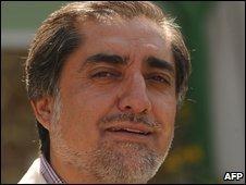 Abdullah Abdullah in Kabul, Afghanistan, 23 August 2009