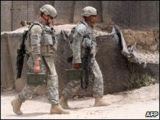 US troops preparing to handover a base at al-Qurna in southern Iraq  to Iraqi troops - 1 August 2009
