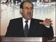 Iraqi Prime Minister Nouri Maliki in Damascus, Syria - 18 August 2009