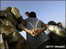 Iraqi detainee in Baquba, 2005