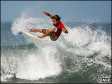 Japan surfer Shuhei Kato competing in Asian Beach Games Oct 08, Bali, Indonesia