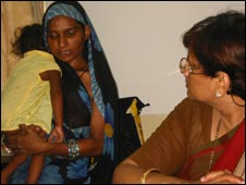 Encephalitis expert Dr Rashmi Kumar with mother Kiran Singh and her child Dabbu
