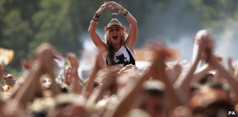 Fans at V Festival in Chelmsford