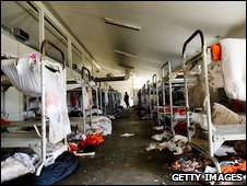 Scene of a prison riot in California earlier this month