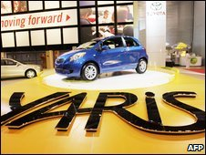 2007 Toyota Yaris on display at a motor show