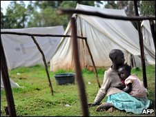 Members of the Kikuyu community in a refugeee camp in Molo district, June 2009