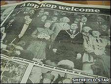 Sheffield Star special supplement celebrating the queen's visit in 1986