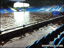 The floods in 2007 caused over £1million worth of damage to the stadium