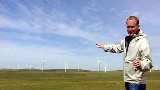 Huitengxile windfarm, the biggest in Inner Mongolia