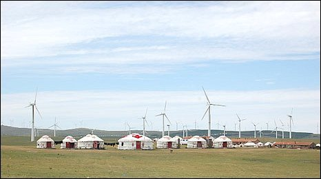 Huitengxile wind farm, the biggest in Inner Mongolia
