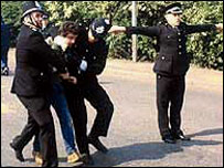 Picket arrest at Orgreave