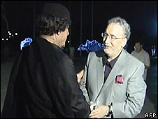 Col Gaddafi with Abdelbaset Ali al-Megrahi