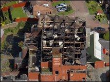 Damaged mill in Blackburn