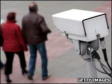 CCTV camera in the Embankment, central London