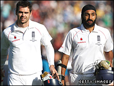 James Anderson and Monty Panesar secure the draw at Cardiff