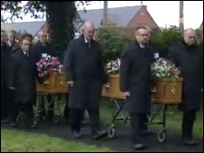 Jil and Kirstie Foster's funeral