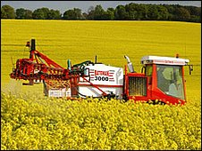 Crop spraying (Image: BBC)