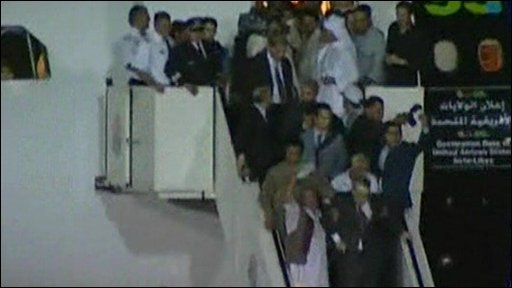 Lockerbie bomber arrival in Libya