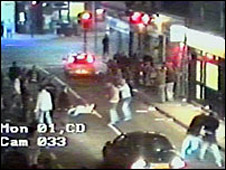 CCTV footage of fight in Aberdeen
