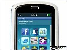 OneApp mockup (Microsoft)